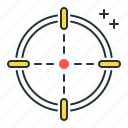 aim, mark, target icon