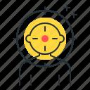 aim, headshot, mark, target icon