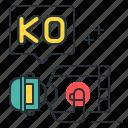knocked out, ko, pubg icon