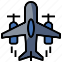 aircraft, airplane, departure, flying, landing, plane, transportation icon