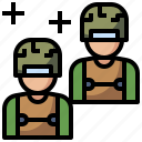 army, militar, occupation, security, soldier, user, weapon icon