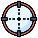 aim, focus, miscellaneous, shooting, sniper, target, weapons icon