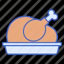 chicken, cooking, dinner, food