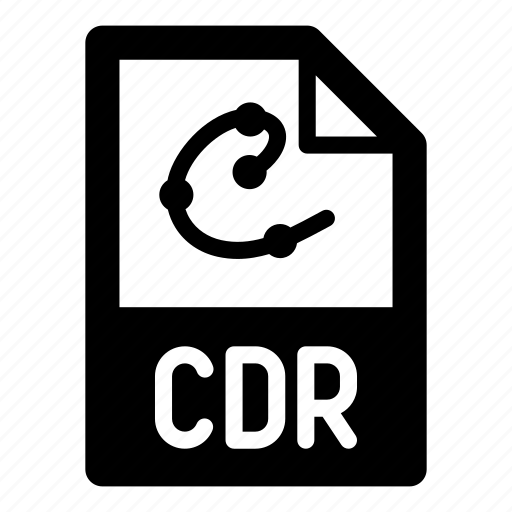 cdr, extension, file, format, type, vector icon