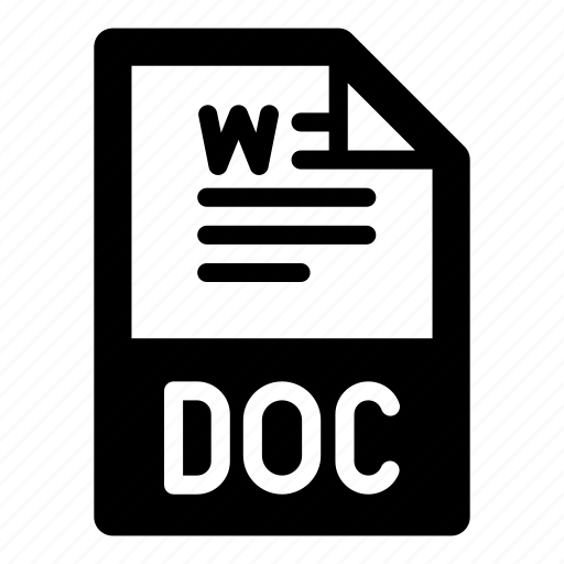 doc, document, extension, file, format, text, type icon