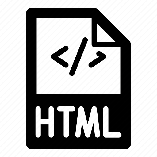 code, extension, file, format, html, text, type icon