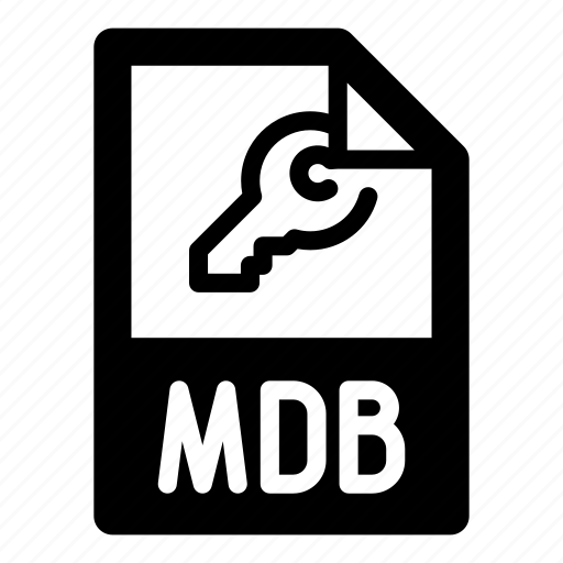 extension, file, format, key, mdb, type icon