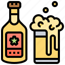 beer, beverage, bottle, glass, mug icon