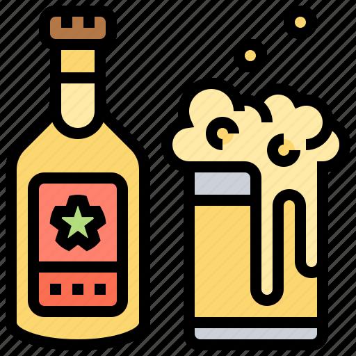 beer, beverage, bottle, glass, mug icon