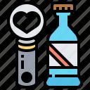 bottle, cap, metal, opener, utensil