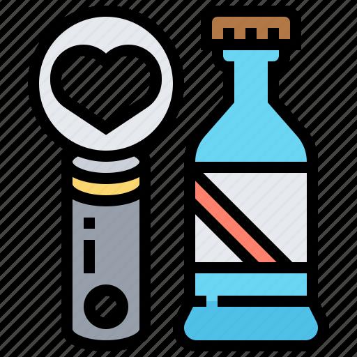 bottle, cap, metal, opener, utensil icon