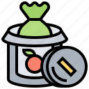bin, can, garbage, trash, waste icon