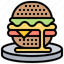 bun, cheese, hamburger, meat, tasty icon