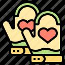 grill, grove, kitchen, mitten, safety icon
