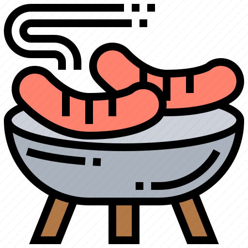 bbq, food, grill, party, sausage icon