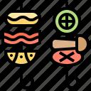 grill, kebabs, shish, stick, turkish