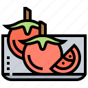 fresh, fruit, plate, tomatoes, vegetable icon