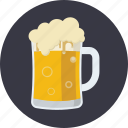 alcohol, beer, beverage, foam, froth, jug, mug icon