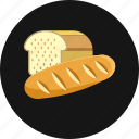 bakery, bread, cereal, crust, food icon