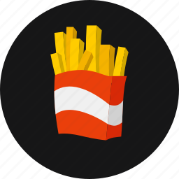 chips, crispy, fastfood, french fries, lunch, potato icon