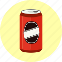 aluminum, beverage, cola, drink, fizzy, soda, tin-can, aluminium icon
