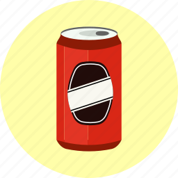 aluminium, aluminum, beverage, cola, drink, fizzy, soda, tin-can icon