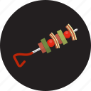 barbecue, food, grill, kebab, roast, shish kebab, vegetables icon