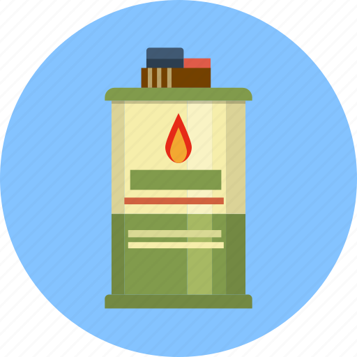 accelerant, charcoal, container, dangerous, fluid, lighter icon