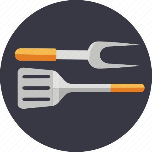 barbecue, bbq, fork, rotisserie, spatula, tools, utensils icon