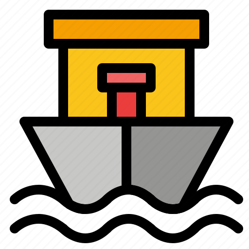 Beach, boat, ship, summer icon - Download on Iconfinder