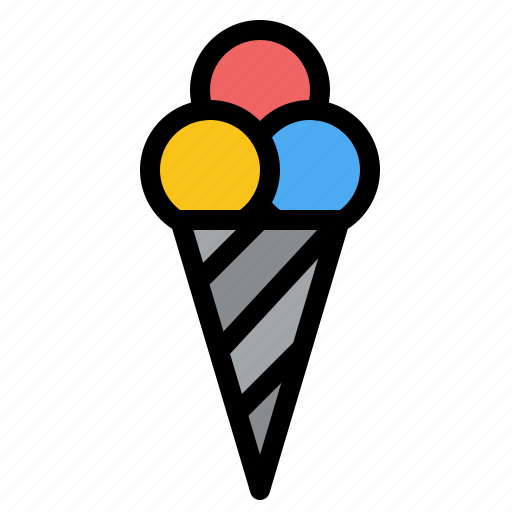 Beach, cone, cream, ice icon - Download on Iconfinder