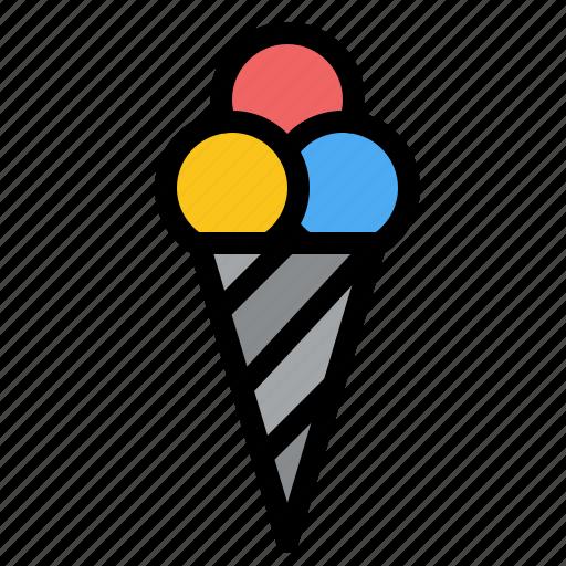 beach, cone, cream, ice icon