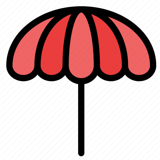 beach, umbrella, weather, wet icon