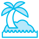 beech, holidays, ocean-, summer, tree icon
