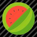 beach, beach scene, holiday, watermelon icon