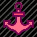anchor, ship, ocean, sea, boat