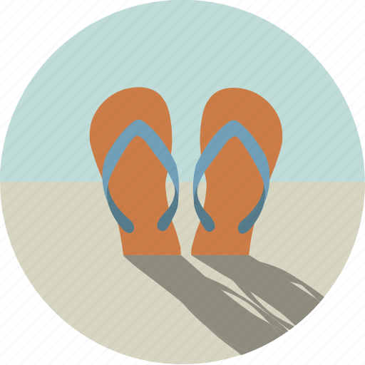 beach, clothes, flip flops, flip-flops, sand, sandals, shoes icon