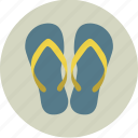 beach, clothing, flip flops, flip-flops, sand, sandals, shoes icon