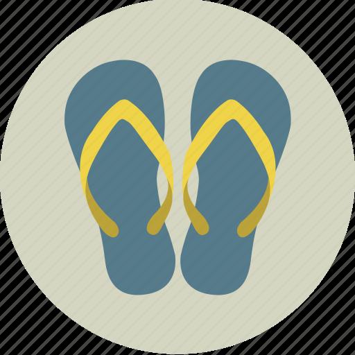 beach, clothing, flip flops, flip-flops, sand, sandals, shoes icon