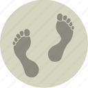 beach, feet, footprint, holiday, sand, summer, traces icon