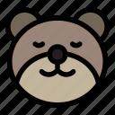 bear, emoji, emoticon, kawaii, peace