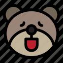 bear, emoji, emoticon, kawaii, relax