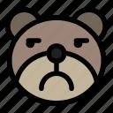 annoying, bear, emoji, emoticon, kawaii icon