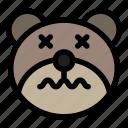bear, confused, emoji, emoticon, kawaii