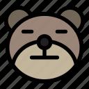 bear, emoji, emoticon, kawaii, neutral