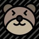 bear, emoji, emoticon, happy, kawaii