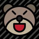 bear, emoji, emoticon, kawaii, mad
