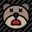 bear, dead, emoji, emoticon, kawaii