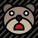 bear, emoji, emoticon, kawaii, shocked