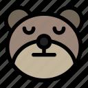 bear, emoji, emoticon, kawaii, sleep